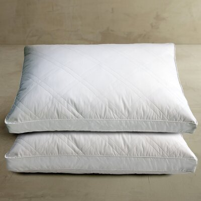 Blue Ridge Home Fashion, Inc. 233 Thread Count Double Diamond Quilted White Goose Feather Jumbo Pillow (Set of 2) at Sears.com