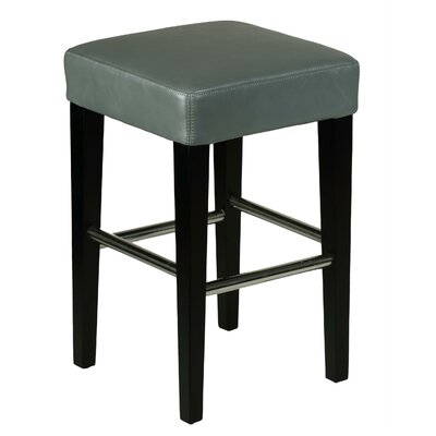 "24"" Bar Stool Upholstery: Grey"