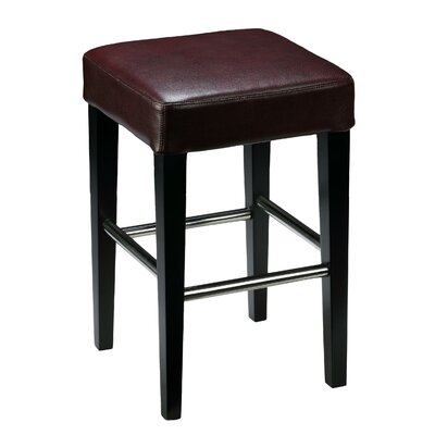 24 Bar Stool Upholstery: Merlot Wine Red