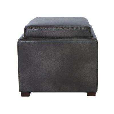 Mavi Tray Top Storage Ottoman Upholstery: Grey