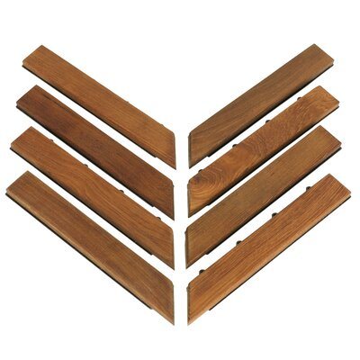 EZ-Floor  1 x 12  Corner Tile Trim in Teak