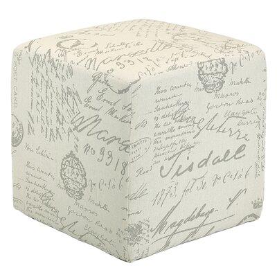 Lemelle Script Cube Ottoman