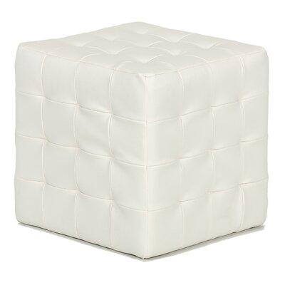 Jojo Leather Cube Ottoman