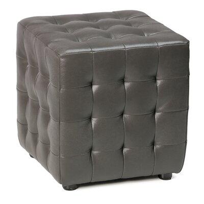 Izzo Cube Ottoman Upholstery: Gunmetal Grey