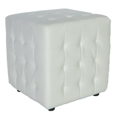 Izzo Cube Ottoman Upholstery: Pure White