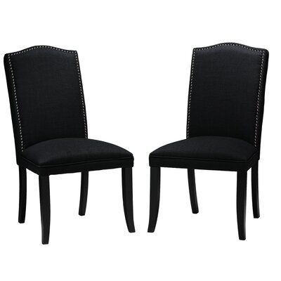 Duomo Side Chair Upholstery: Black