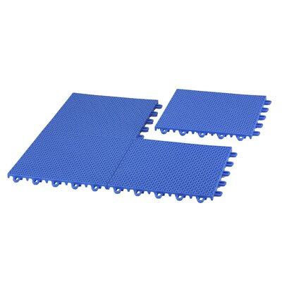 EZ-Floor Interlocking Plastic Tile Flooring Color: Blue