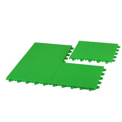 EZ-Floor Interlocking Plastic Tile Flooring Color: Green