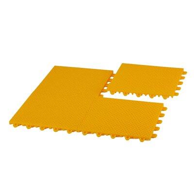EZ-Floor Interlocking Plastic Tile Flooring Color: Yellow