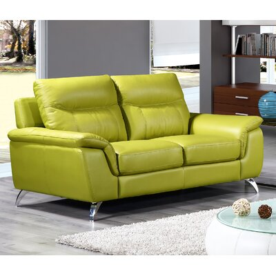 Chicago Loveseat Upholstery: Green