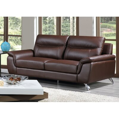 Chicago Leather Sofa Upholstery: Brown