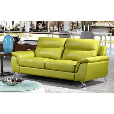 Chicago Leather Sofa Upholstery: Green
