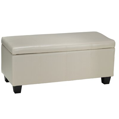 Vera Leather Cocktail Ottoman Upholstery: Cream