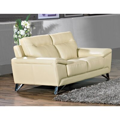 Riche Loveseat Upholstery: Cream