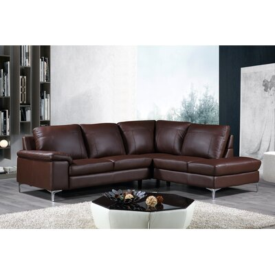 Dallas Modular Leather Sectional Orientation: Right Hand Facing