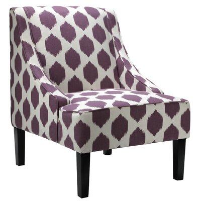 Celene Slipper Chair Upholstery: Purple