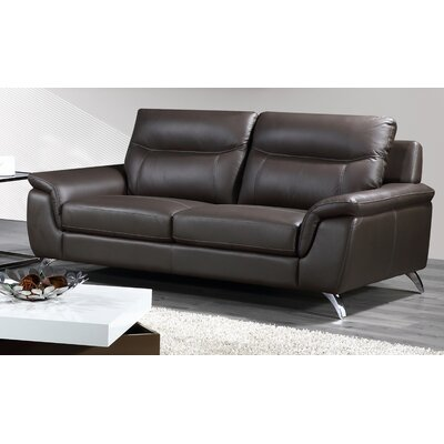 Chicago Leather Sofa Upholstery: Grey