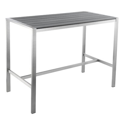 Lola Bar Table Finish: Grey