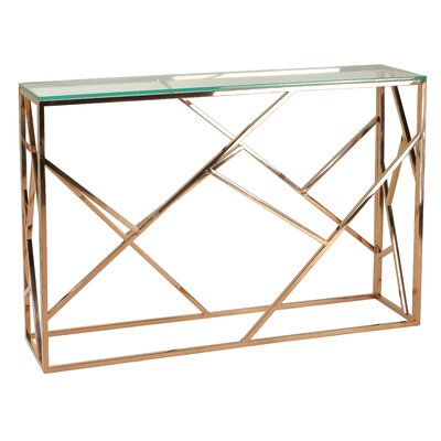 Bellegarde Contemporary Glass Console Table
