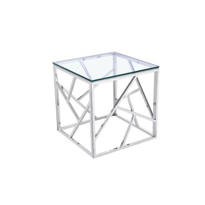 Angelea Square Stainless Steel End Table