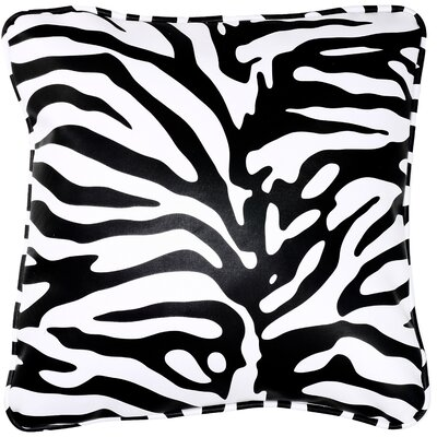 Mentasta Zebroid 100% Cotton Throw Pillow