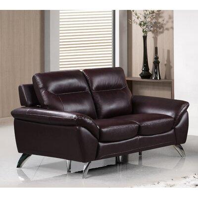 Richman Modern Leather Loveseat