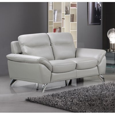 Rickards Modern Leather Loveseat