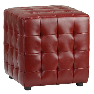 Izzo Cube Ottoman Upholstery: Burgundy