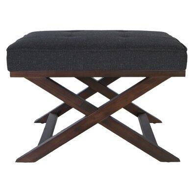 Ari X Bench Ottoman Upholstery: Charcoal