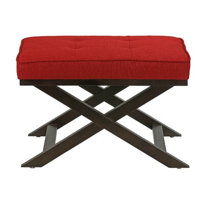 Ari X Bench Ottoman Upholstery: Red