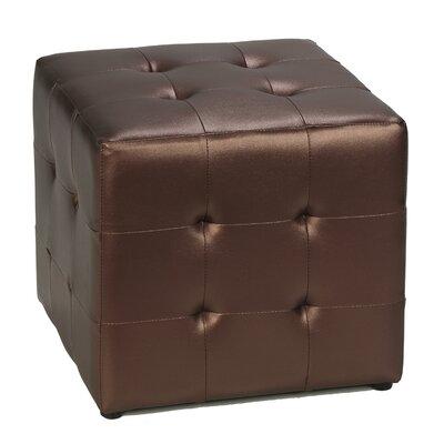 Apollo Cube Ottoman Upholstery: Bronze