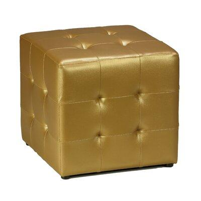 Apollo Cube Ottoman Upholstery: Gold