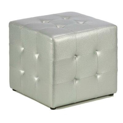 Apollo Cube Ottoman Upholstery: Silver