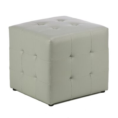 Apollo Cube Ottoman Upholstery: Steel Grey