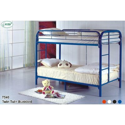 Twin Over Twin Bunk Bed Color: White