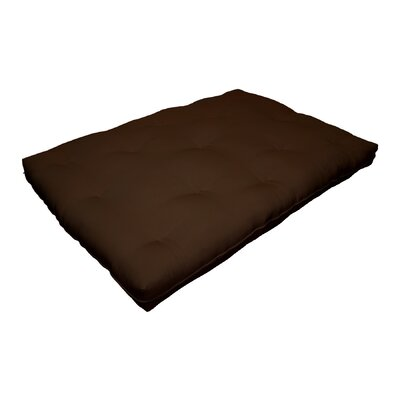 8 Replacement Innerspring Full Size Futon Mattress Color: Dark Brown