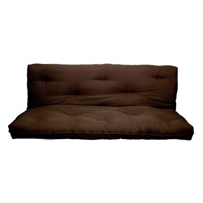 10 Replacement Innerspring Full Size Futon Mattress Color: Dark Brown