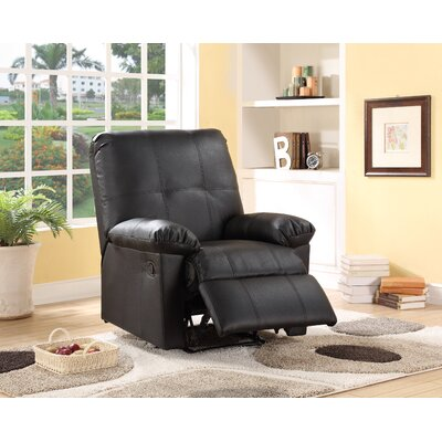Jackson Recliner Chair Upholstery: Black