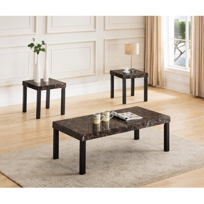 Litherland 3 Piece Coffee Table Set