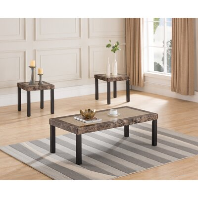 Liverpool 3 Piece Coffee Table Set