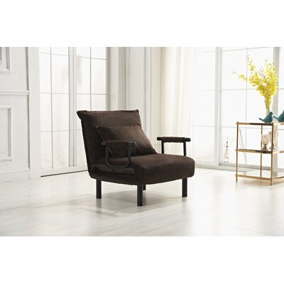 Vickie Convertible Chaise Lounge Upholstery: Brown