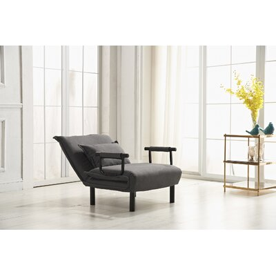 Vickie Convertible Chaise Lounge Upholstery: Gray