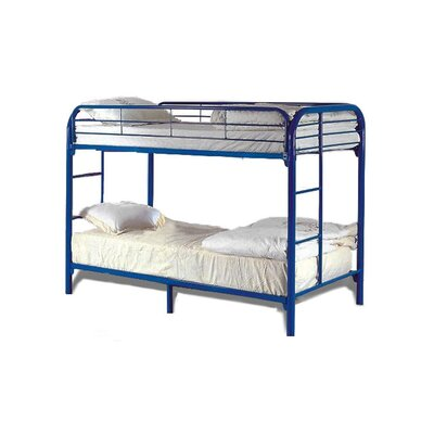 Twin Over Twin Bunk Bed Color: Blue