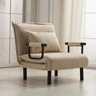 Vickie Convertible Chaise Lounge Upholstery: Beige