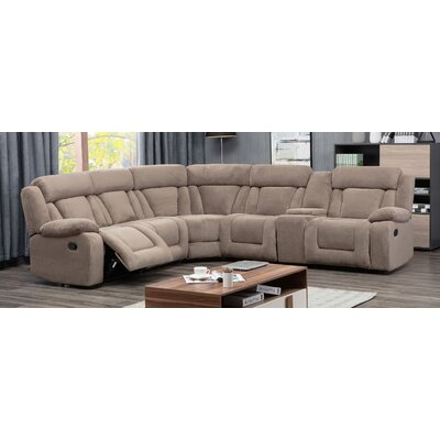 Herald Square Reclining Sectional Upholstered: Tan