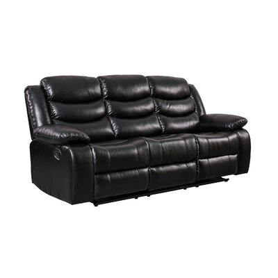 Herbst Reclining Sofa Upholstered: Black