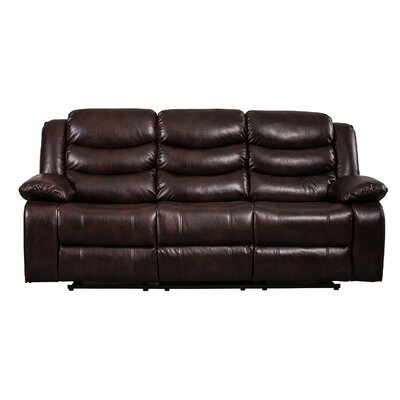 Herbst Reclining Sofa Upholstered: Brown