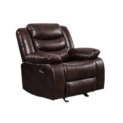 Hilger Manual Wall Hugger Recliner Upholstery: Brown