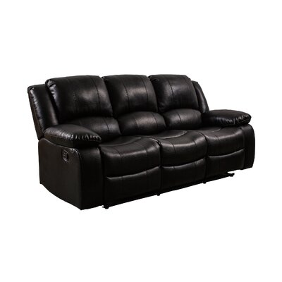 Herdon Reclining Sofa Upholstered: Black