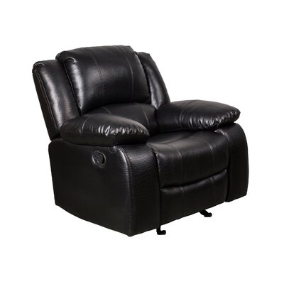 Herdon Manual Wall Hugger Recliner Upholstery: Black